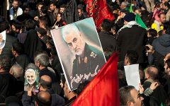 The funeral of Qassem Soleimani in Tehran, Iran on 1/7/2020. © Saeediex / Shutterstock