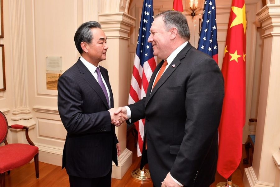 Secretary+Pompeo+Shakes+Hands+With+Chinese+State+Councilor+and+Foreign+Minister+Wang.++Free+Use+Image+Courtesy+of+Flickr.com